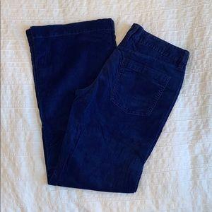 j. crew wide leg corduroy pants